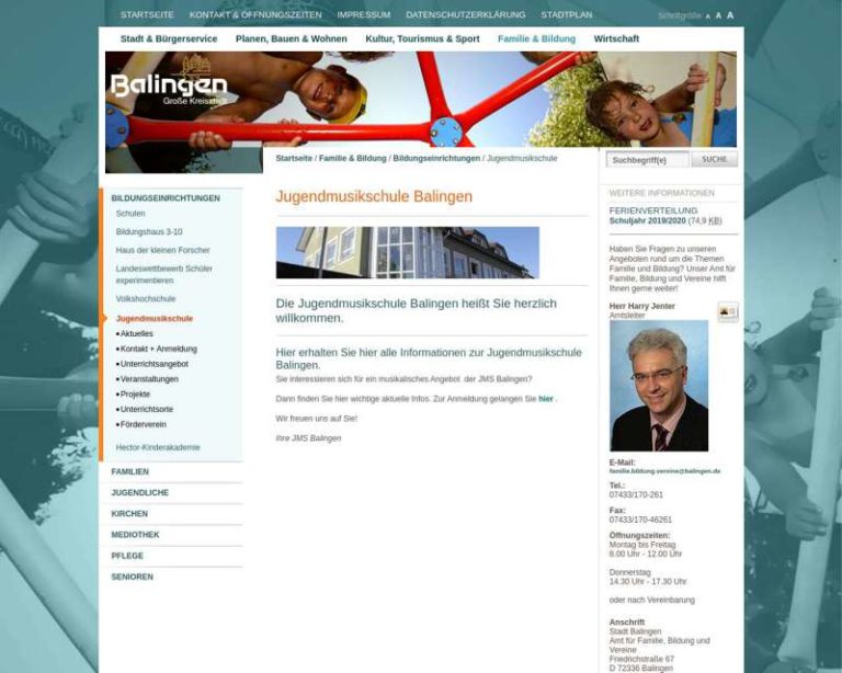 Screenshot (middle) http://www.jms-balingen.de/