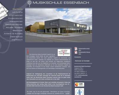 Screenshot (small) http://www.musikschule-essenbach.de