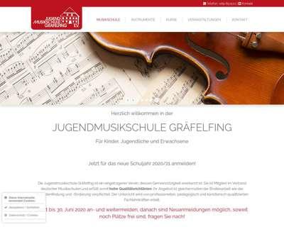 Screenshot (small) http://www.jugendmusikschule-graefelfing.de