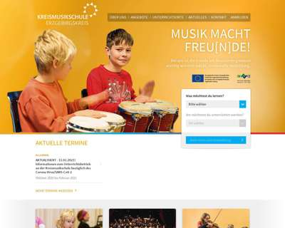 Screenshot (small) http://www.kreismusikschule-erzgebirgskreis.de