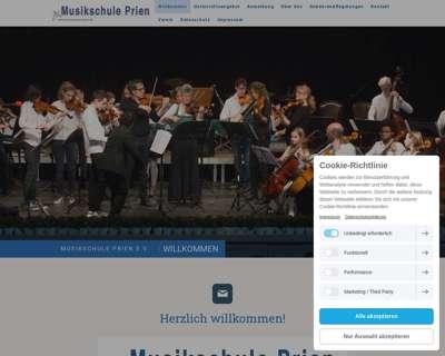 Screenshot (small) http://www.musikschule-prien.de