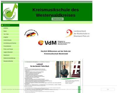 Screenshot (small) http://www.kreismusikschule-ww.de