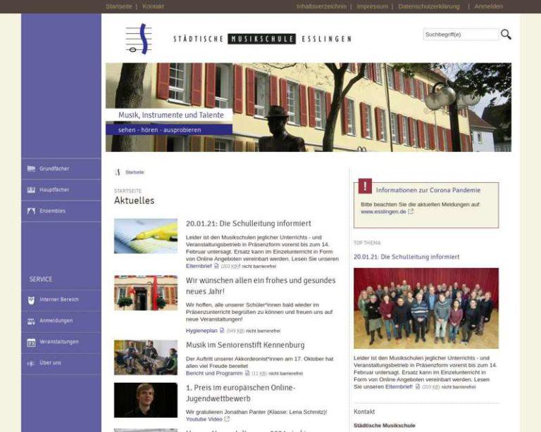 Screenshot (middle) http://www.musikschule.esslingen.de