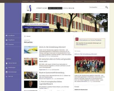 Screenshot (small) http://www.musikschule.esslingen.de