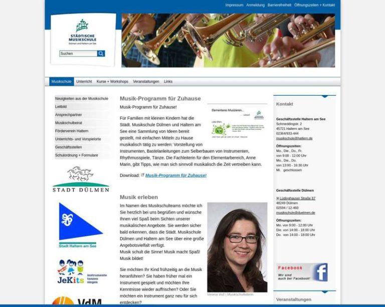 Screenshot (middle) http://www.musikschule-duelmen-haltern.de