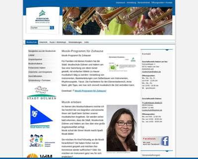 Screenshot (small) http://www.musikschule-duelmen-haltern.de