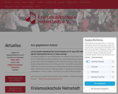 Screenshot (small) http://www.kreismusikschule-helmstedt.de