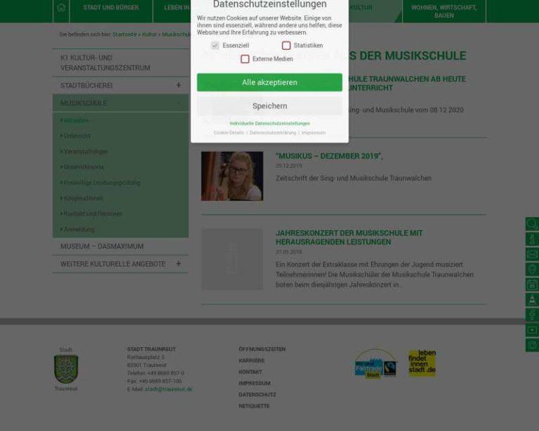Screenshot (middle) http://www.traunreut.de/musikschule