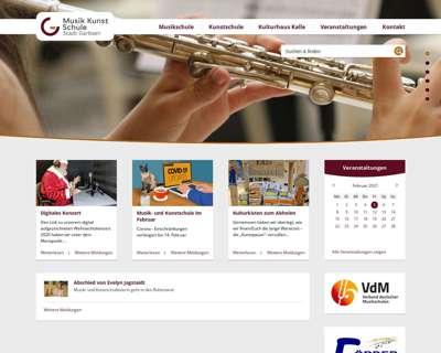 Screenshot (small) http://www.musik-kunstschule-garbsen.de
