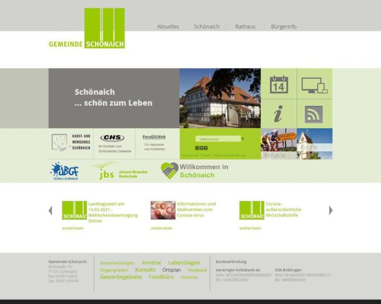 Screenshot (middle) http://www.schoenaich.de