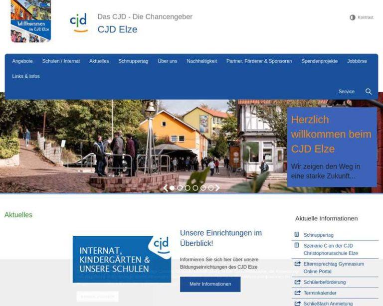 Screenshot (middle) http://www.cjd-elze.de