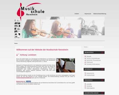 Screenshot (small) http://www.musikschule-neresheim.de
