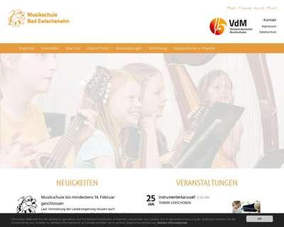 Screenshot (small) http://www.musikschule-bad-zwischenahn.de