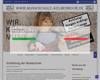 Screenshot (small) http://www.musikschule-kolbermoor.de