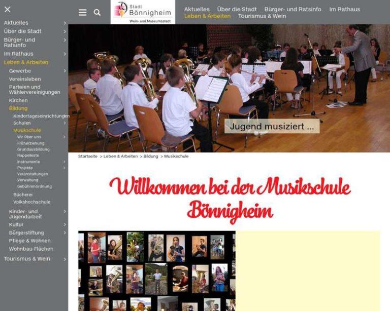 Screenshot (middle) http://www.musikschule-boennigheim.de