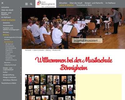 Screenshot (small) http://www.musikschule-boennigheim.de