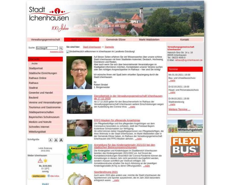Screenshot (middle) http://www.ichenhausen.de