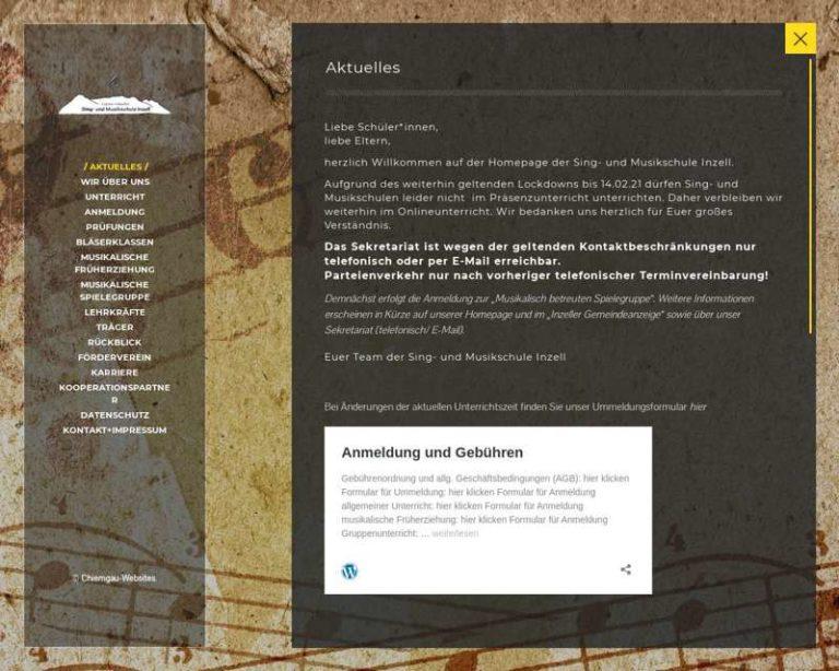 Screenshot (middle) http://www.Musikschule-Inzell.de