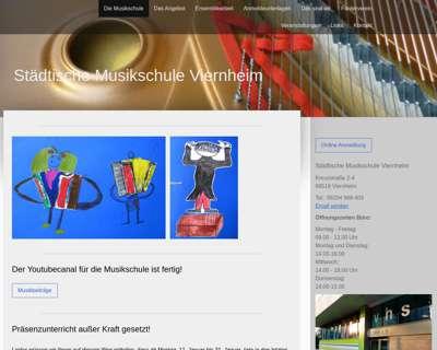 Screenshot (small) http://www.musikschule-viernheim.de