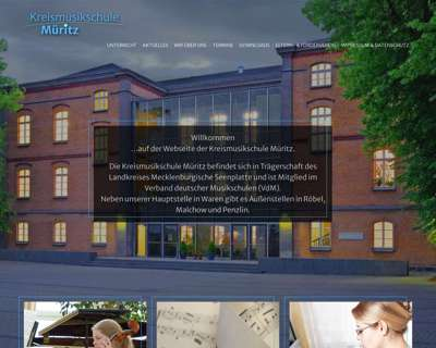 Screenshot (small) http://www.kreismusikschule-mueritz.de