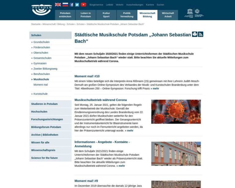 Screenshot (middle) http://www.potsdam.de/musikschule