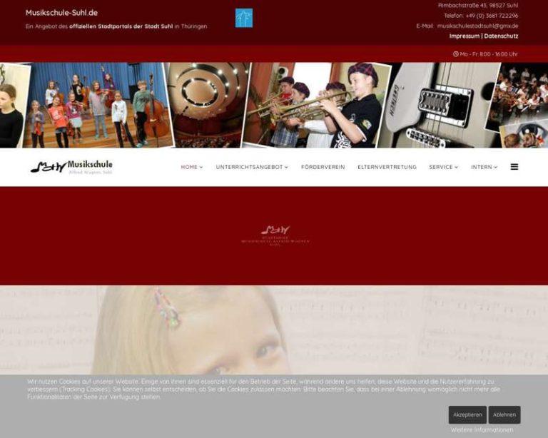 Screenshot (middle) http://www.musikschule-suhl.de