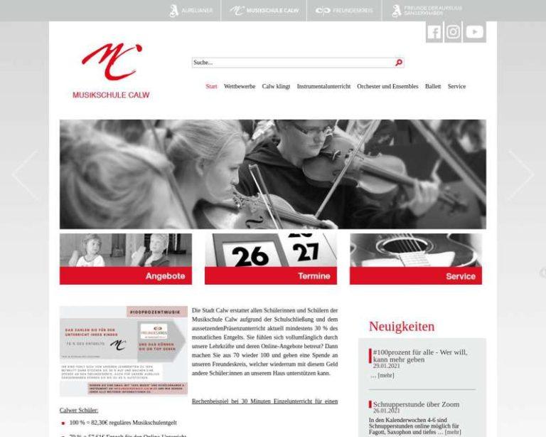 Screenshot (middle) http://www.musikschule-calw.de