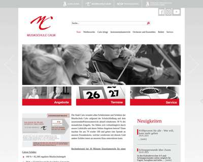 Screenshot (small) http://www.musikschule-calw.de