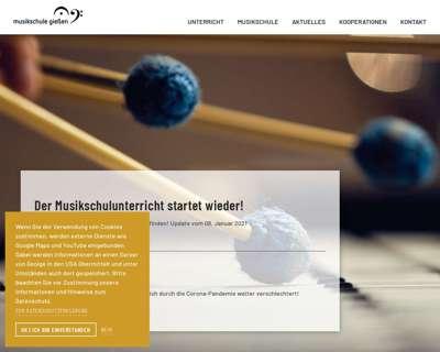 Screenshot (small) http://www.musikschule-giessen.de