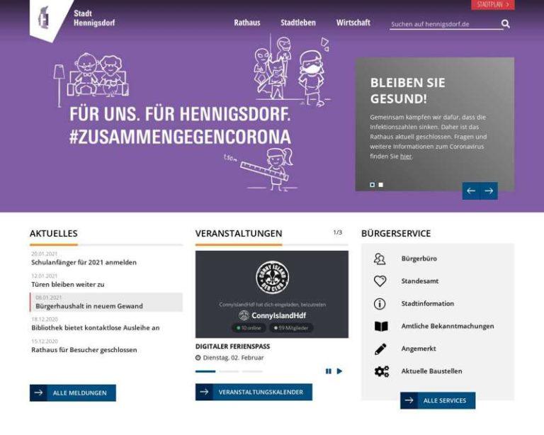 Screenshot (middle) http://www.hennigsdorf.de