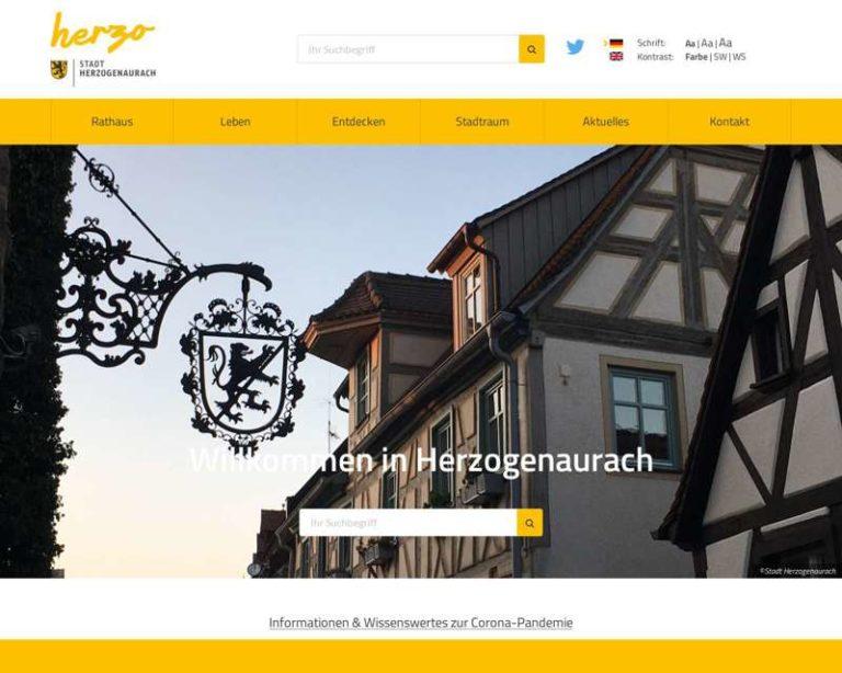 Screenshot (middle) http://www.herzogenaurach.de