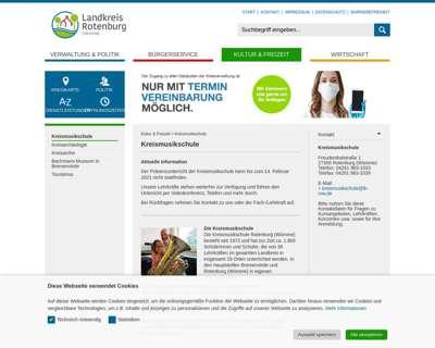 Screenshot (small) http://www.kreismusikschule-rotenburg.de