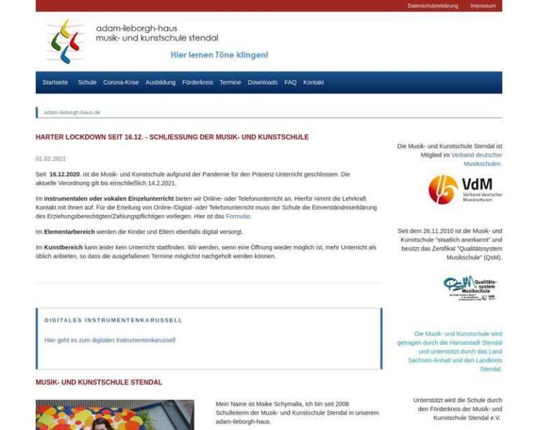 Screenshot (middle) http://www.adam-ileborgh-haus.de