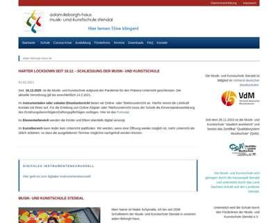 Screenshot (small) http://www.adam-ileborgh-haus.de