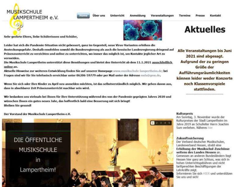 Screenshot (middle) http://www.musikschule-lampertheim.de