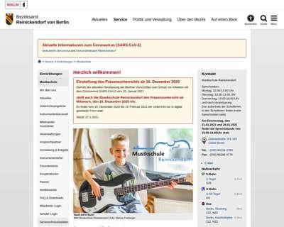 Screenshot (small) http://www.musikschulereinickendorf.de