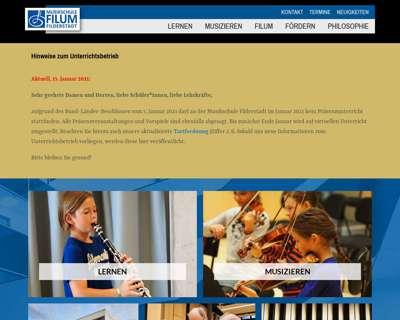 Screenshot (small) http://www.musikschule-filderstadt.de