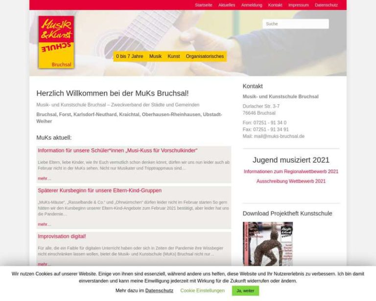 Screenshot (middle) http://www.muks-bruchsal.de