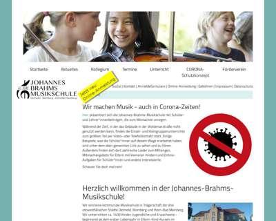 Screenshot (small) http://www.johannes-brahms-musikschule.de