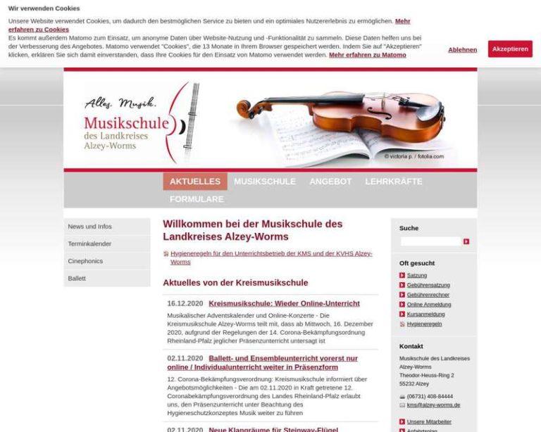 Screenshot (middle) http://www.kms-alzey-worms.de