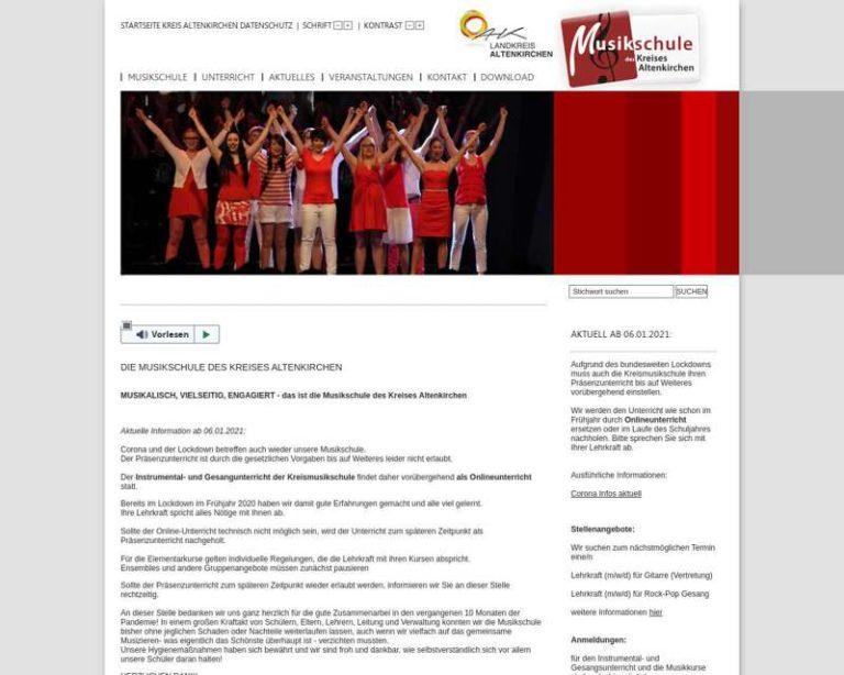 Screenshot (middle) http://www.kreismusikschuleAK.de
