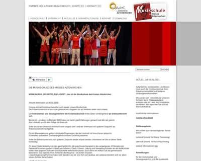 Screenshot (small) http://www.kreismusikschuleAK.de