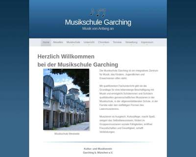 Screenshot (small) http://www.musikschule-garching.de