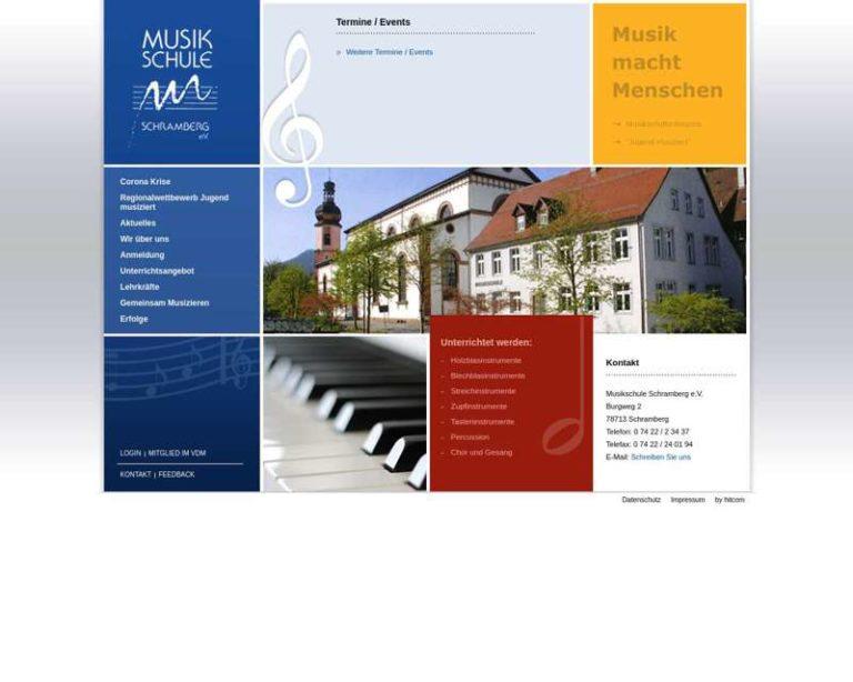 Screenshot (middle) http://www.musikschule-schramberg.de