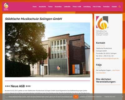 Screenshot (small) http://www.musikschule-solingen.de
