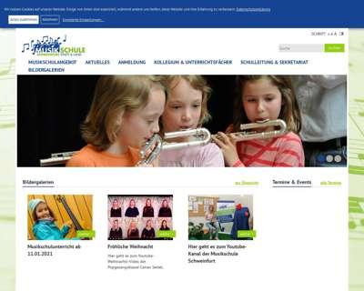 Screenshot (small) http://www.Musikschule-Schweinfurt.de