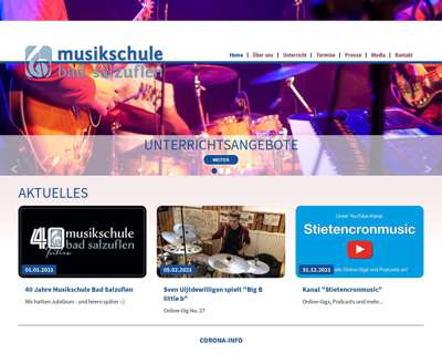 Screenshot (small) http://www.musikschule-bad-salzuflen.de
