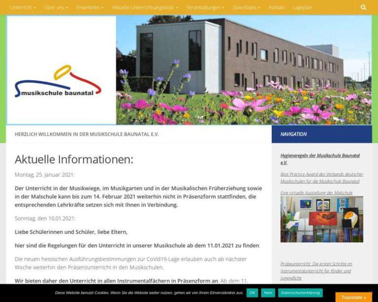Screenshot (middle) http://www.musikschule-baunatal.de