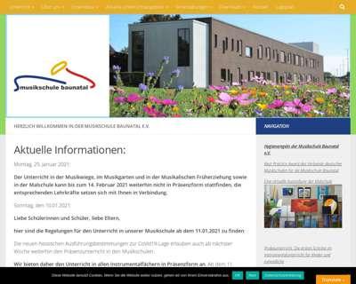 Screenshot (small) http://www.musikschule-baunatal.de