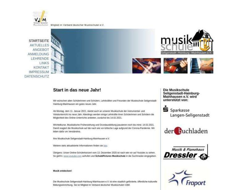 Screenshot (middle) http://www.Musikschule-Seligenstadt.de
